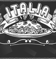 vintage graphic element for italian first course vector image
