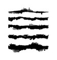 watercolor splash brushes set vector image