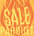 fire sale of parquet wooden background vector image