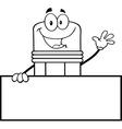 Cartoon pencil vector image vector image