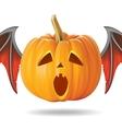 pumpkin sad2 vector image vector image