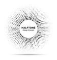 abstract circle frame halftone random dots emblem vector image