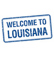 welcome to louisiana blue grunge square stamp vector image