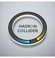 Hadron collider vector image
