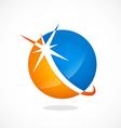 round shine globe sphere business logo vector image