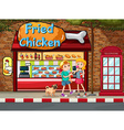 Fried chicken shop vector image vector image