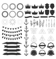 Collection of shields badges and labels design vector image vector image