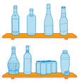 bottles on a shelf vector image