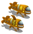 Yellow submarine cargo isolated vector image
