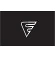 Alphabet letter F line art logo icon design vector image