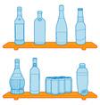 bottles on a shelf vector image