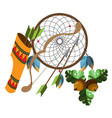 dreamcatcher indians talisman objects of magic vector image