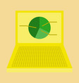 flat icon on stylish background laptop chart vector image