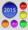 Happy new year 2015 sign icon Calendar date Set of vector image