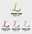 Letter L logo icons such logos vector image