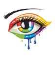 Rainbow Colors Eye vector image