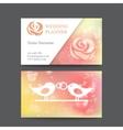 vintage wedding business card template vector image