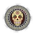 sugar skull tattoo design vector image
