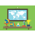 Education and cognitive equipment for science vector image