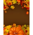 Abstract autumn background with leaves EPS 8 vector image