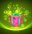 gift box with magic particles background vector image