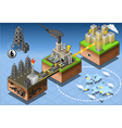 Isometric Infographic Petroleum Energy Harvesting vector image