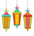 Colorful Arabic Lamps for Ramadan Kareem vector image vector image