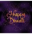 Beautiful greeting card for Hindu community Happy vector image