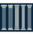 Classic roman greek architecture columns vector image
