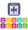 coffee machine icons set vector image