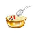 custard vector image