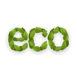 Eco green design ecology abstract element vector image
