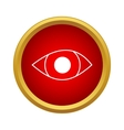 Eye icon in simple style vector image