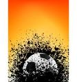 Football grunge poster orange light vector image
