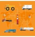 Global logistics network concept in flat design vector image