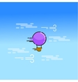 Hot air balloon in the sky art vector image