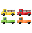 pick up truck in four colors vector image