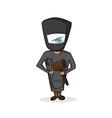 Profession black smith worker cartoon figure vector image