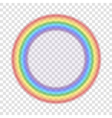 Rainbow icon realistic 7 vector image