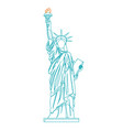 statue of liberty thin line vector image