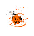 thank you happy thanksgiving day autumn vector image