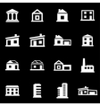 white buildings icon set vector image