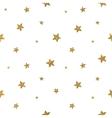 Grunge seamless pattern of gold glitter stars vector image