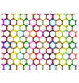 Multi Colors of Hexagon on White Background Vector Image