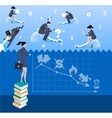 Power of knowledge business concept vector image