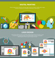 two designer tools composition set vector image
