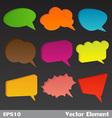 3D Bubbles Speech vector image