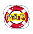 lifebuoy from pirate sailing vessel icon vector image