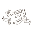 Greeting text for birthday vector image