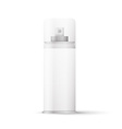 White metal bottle with sprayer cap for cosmetic vector image